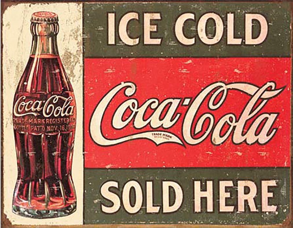 Shop72- Tin Signs Ice Cold Coke Coca Cola Retro Tin Sign Vintage Tin Signs