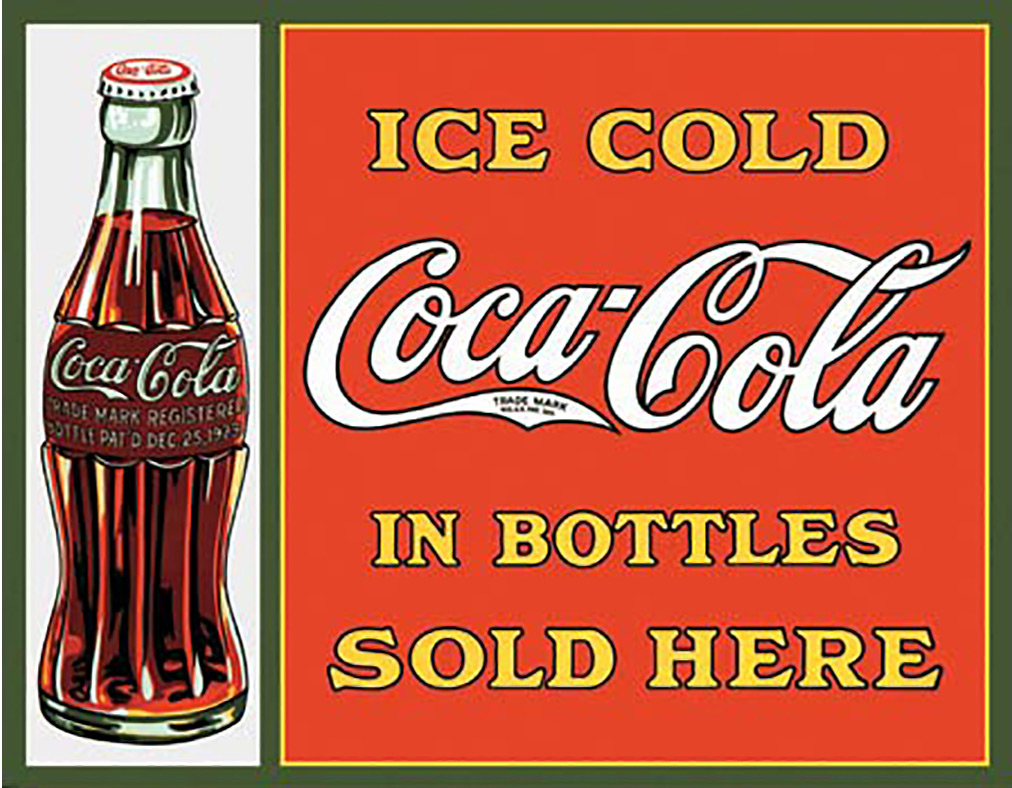 Shop72- Tin Signs Coke Coca Cola Bottle Retro Tin Sign Vintage Tin Signs