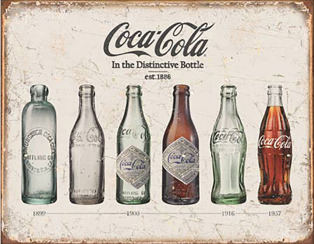 Shop72- Tin Signs Coca Cola 1886 Retro Tin Sign Vintage Tin Signs