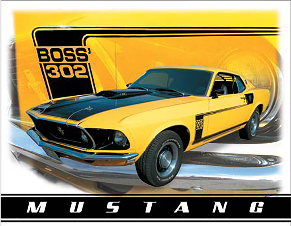 Shop72 - Tin Sign Ford Mustang Boss 302 Vintage Tin Sign Retro Metal Sign