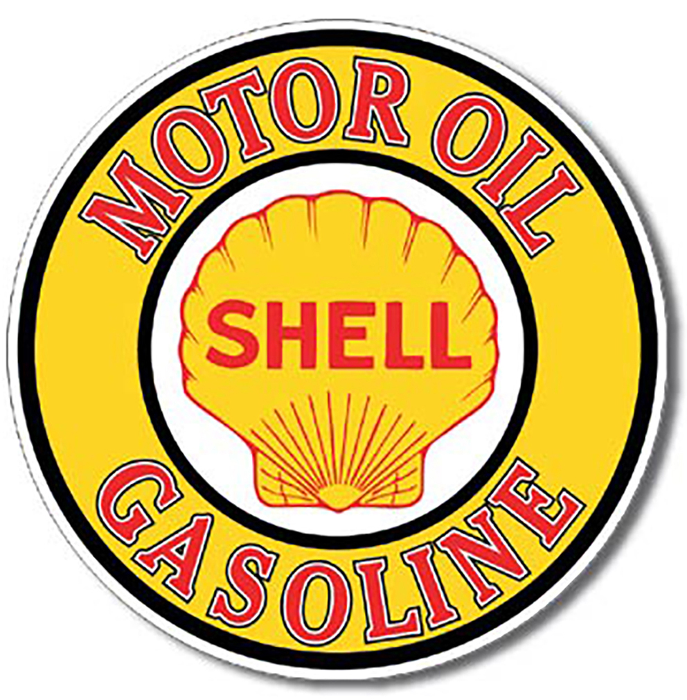 Shop72 - Motor Oil Tin Signs Retro Vintage Gas Tin sign n Oil Tin Sign Wall Decor Garage - Shell Motor Oil