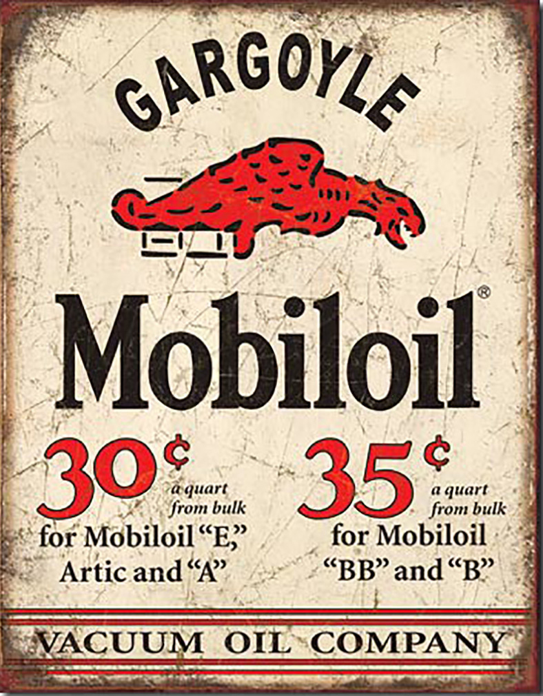 Shop72 - MobilGas Tin Signs Retro Vintage Gas Tin Sign n Oil Tin Sign Wall Decor Garage -