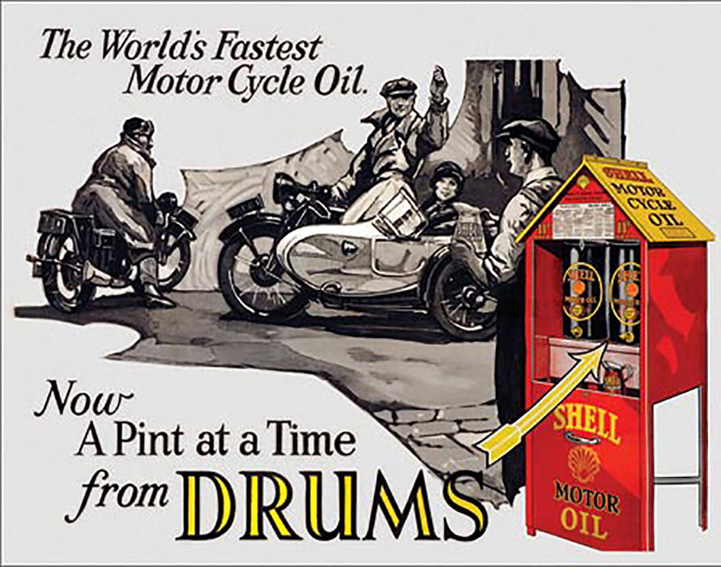 Shop72 - Shell Oil Tin Signs Retro Vintage Gas Tin Sign n Oil Tin Sign Wall Decor Garage -