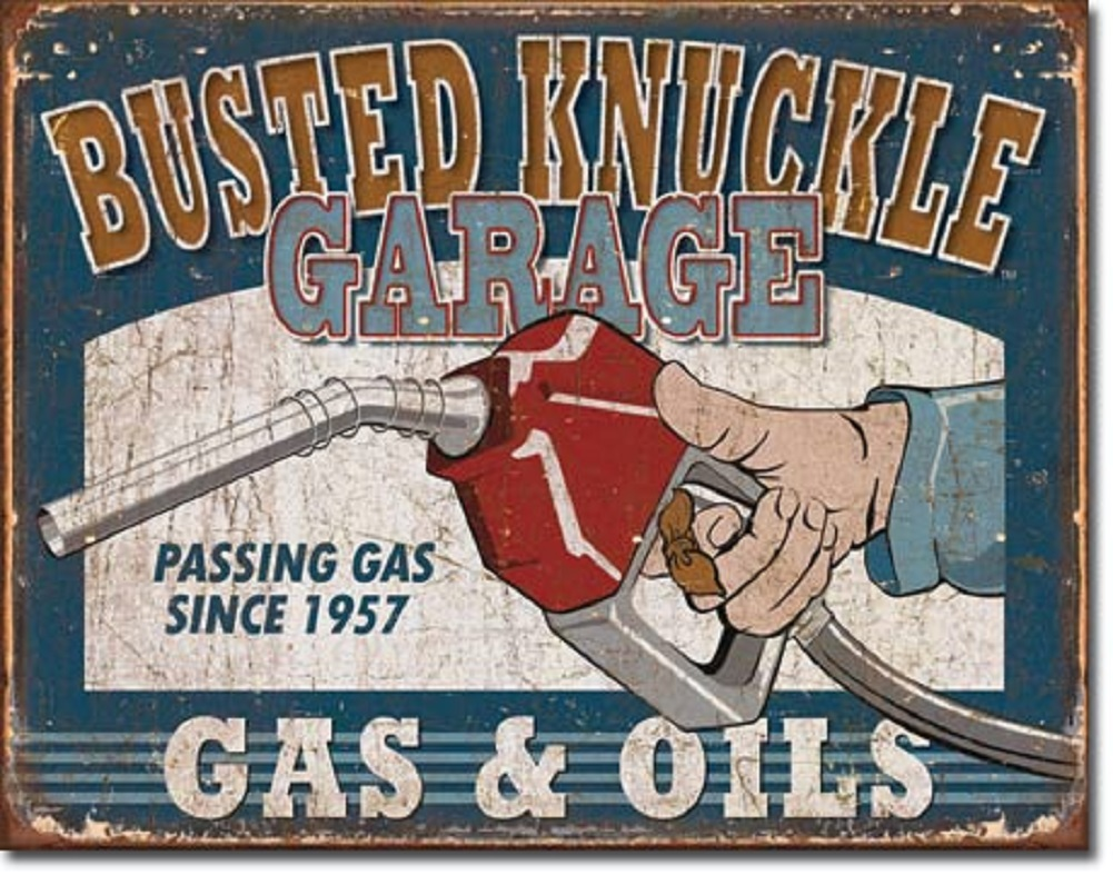 Shop72 - Busted Knuckle Tin Signs Retro Vintage Gas Tin sign n Oil Tin Sign Wall Decor Garage --copy