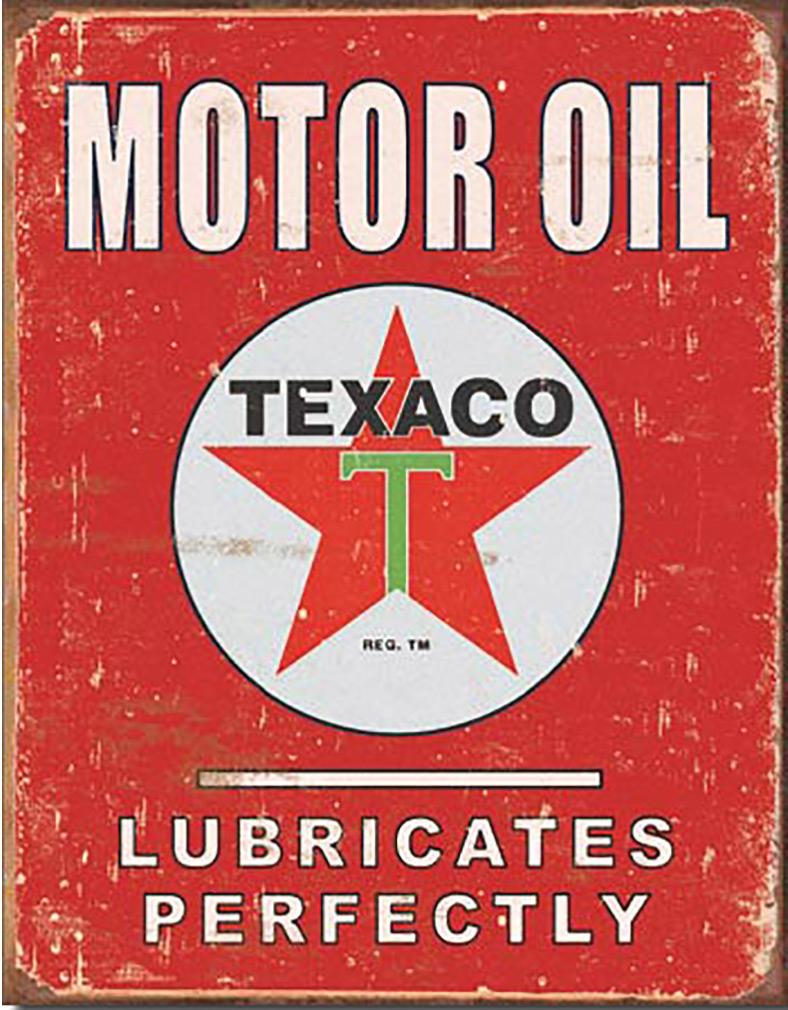 Shop72 - Texaco Tin Signs Retro Vintage Gas Tin Sign n Oil Tin Sign Wall Decor Garage -