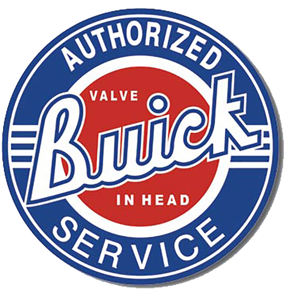 Shop72 - Vintage Tin Sign Buick Service Metal Sign Poster Garage Sign - with Sticky Stripes No Damage to Walls