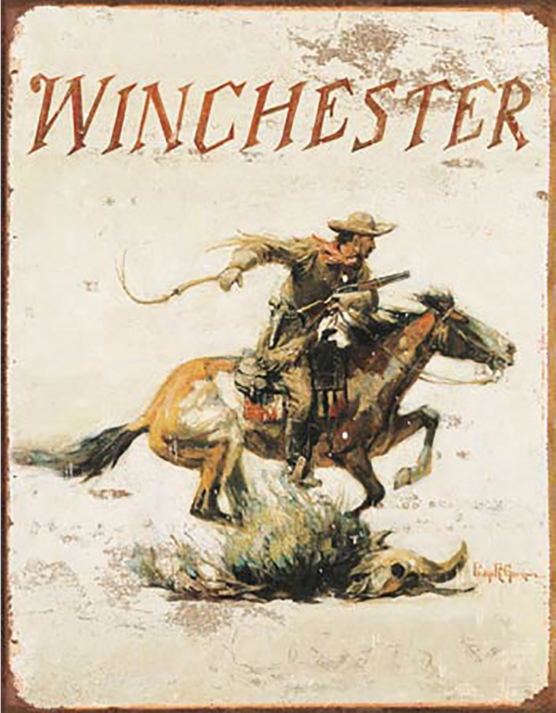 Shop72 - Winchester Tin Sign Retro Vintage Distressed with Wall Stickers