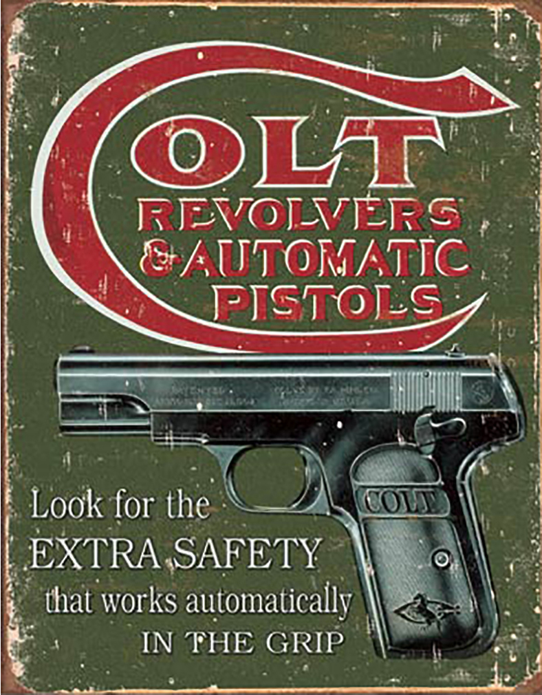 Shop72 - Colt - Extra Safety Tin Sign Retro Vintage Distressed