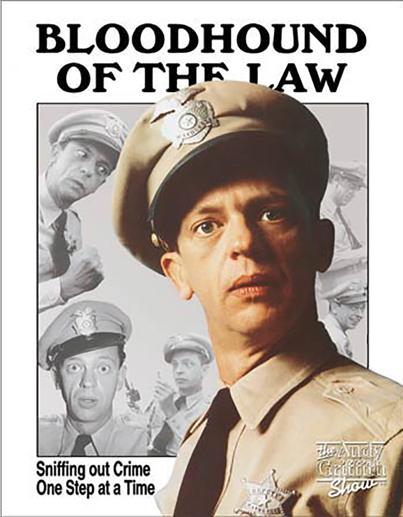 Shop72 - Hollywood Movie Tin Sign Funny Bloodhound of The Law Tinsign -