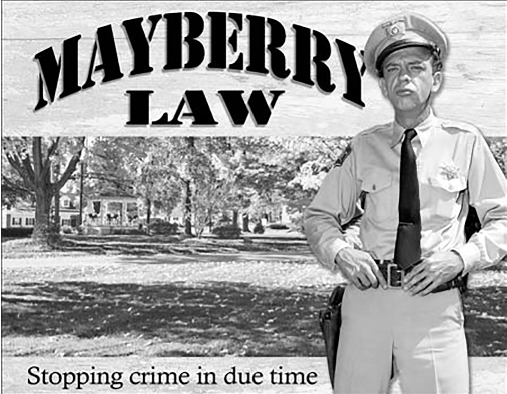 Shop72 - Hollywood Movie Tin Sign Funny MayBerry Law Tinsign -