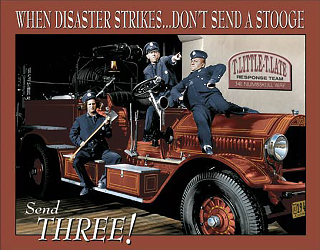 Shop72 - Hollywood Movie Tin Sign Funny Three Stooges Tinsign -