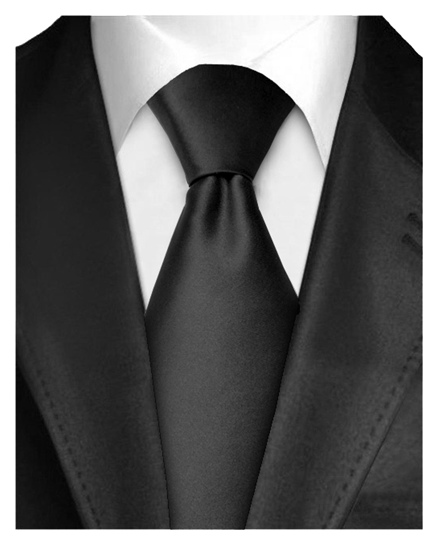 "Dabung - Men's Classic Neck Tie - Silk Finish Polyester Necktie - Solid Color Long Ties for Men - Fashion Tie 57"" x 3.5"" Black"