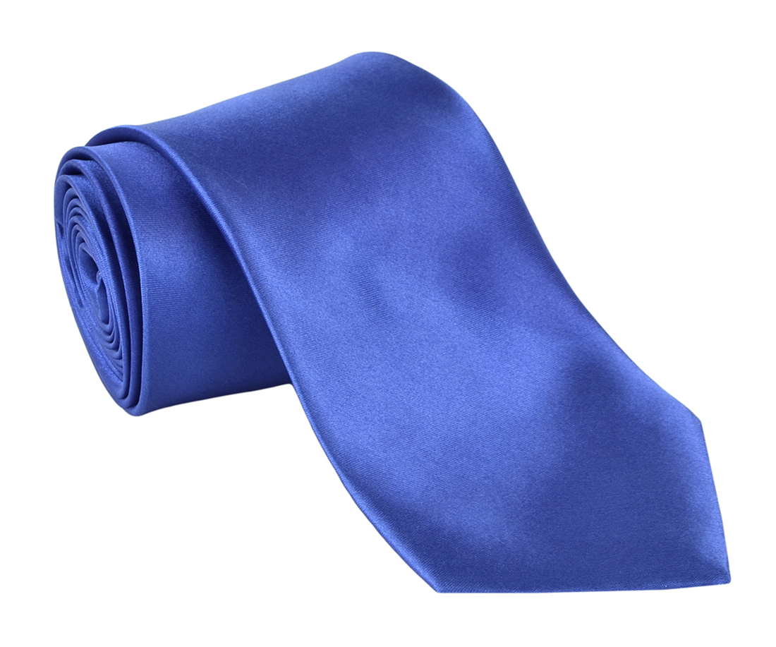 "Dabung - Men's Classic Neck Tie - Silk Finish Polyester Necktie - Solid Color Long Ties for Men - Fashion Tie 57"" x 3.5"" Shiny and Non Shiny - Blue-Sh"