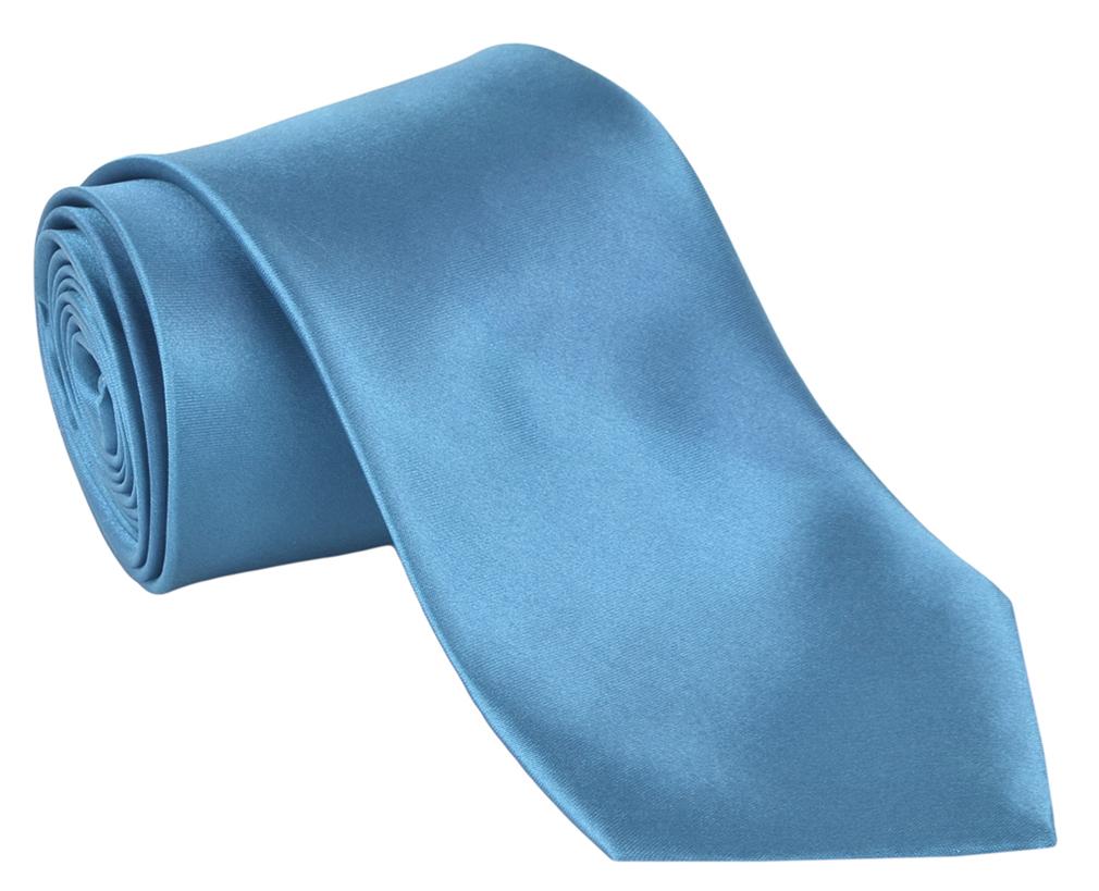 Men Neckties Polyester Long Tie Satin Silk Finish - Turquoise Ties