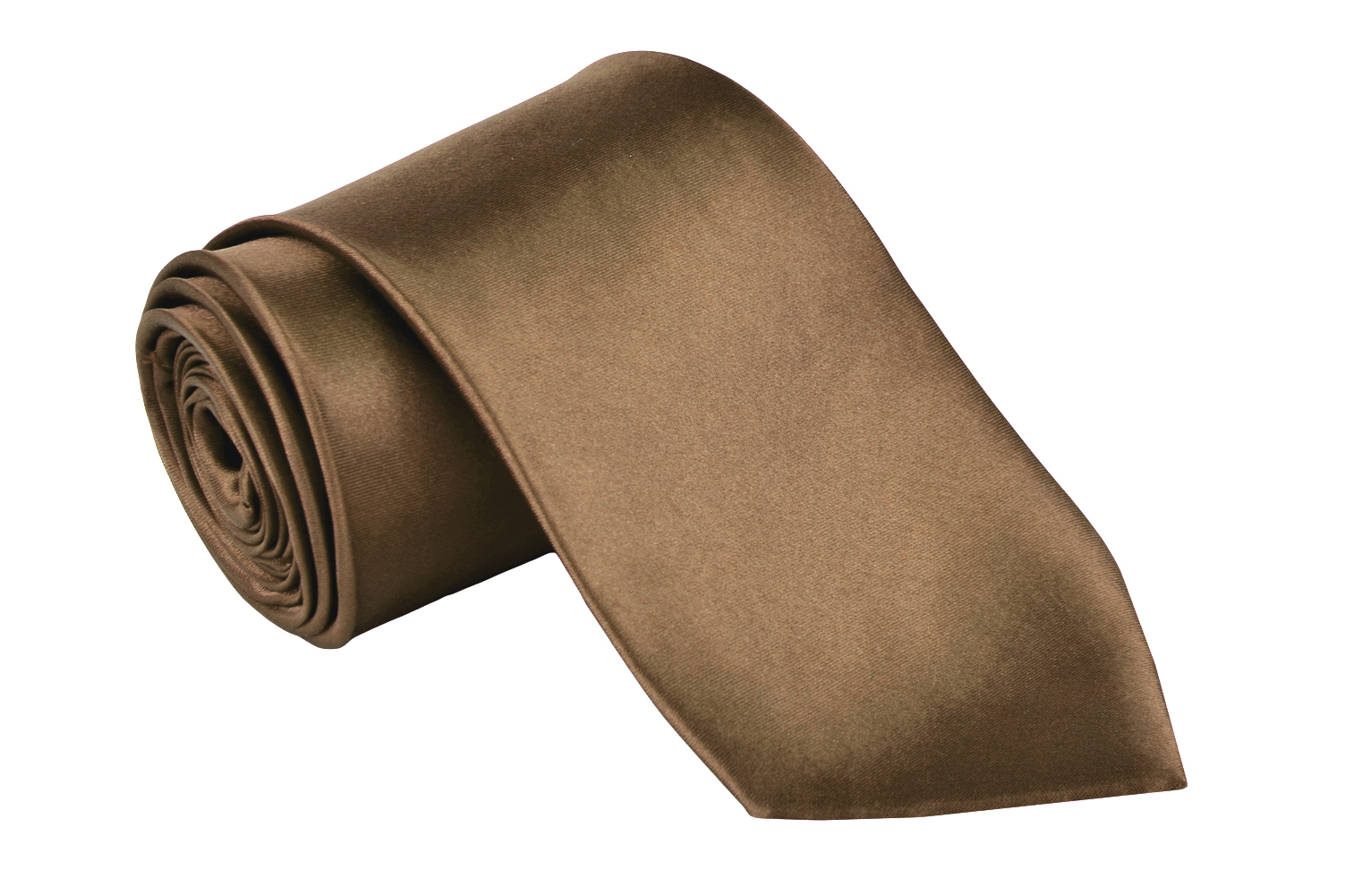 """Dabung - Men's Classic Neck Tie - Silk Finish Polyester Necktie - Solid Color Long Ties for Men - Fashion Tie 57"""" x 3.5"""" Shiny and Non Shiny - Brown-M"""