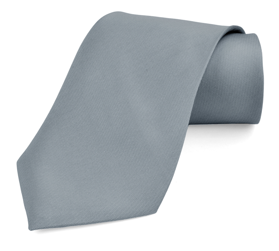 Ties For Men Necktie Polyester Ties Satin Silk Finish - Dabung - GunMetalGray