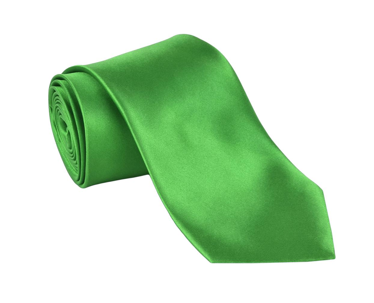 Ties For Men Necktie Polyester Satin Silk Finish Neck tie - Dabung - Green