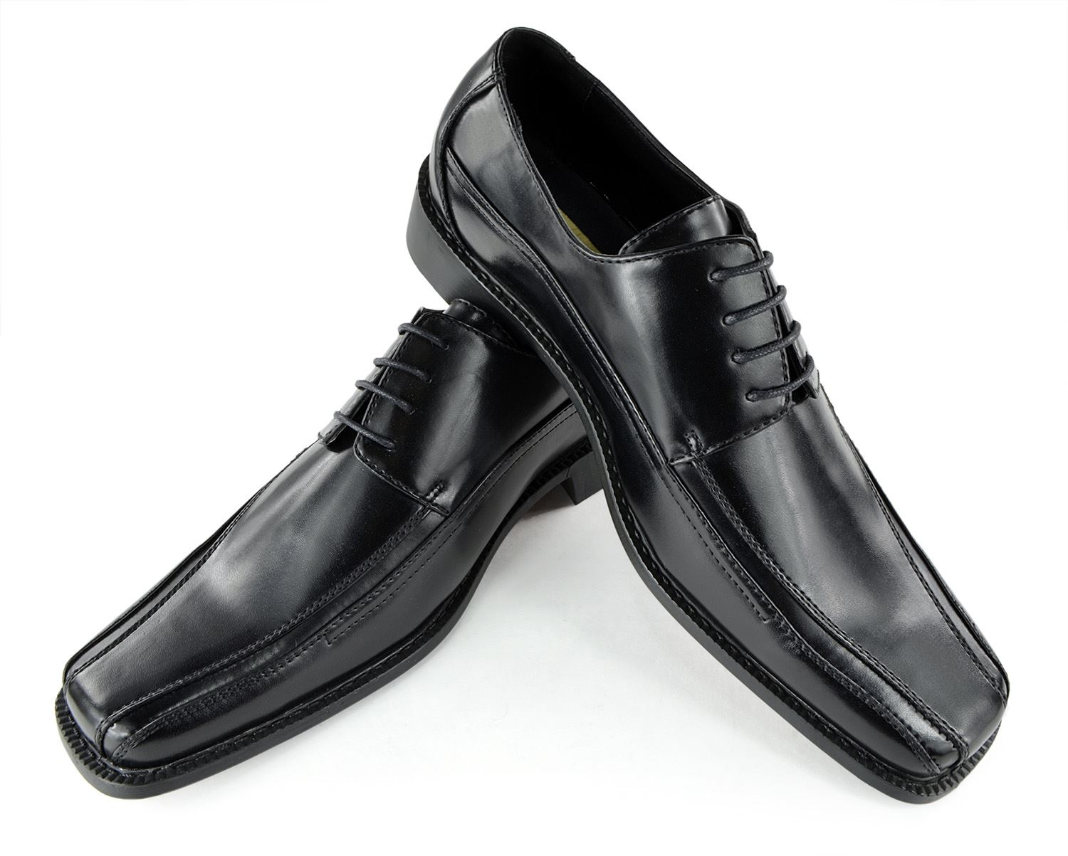 Moda Di Raza-Mens Bike Toe Wedding Oxford Dress Shoes -Black - 5795/ Size: 10.5