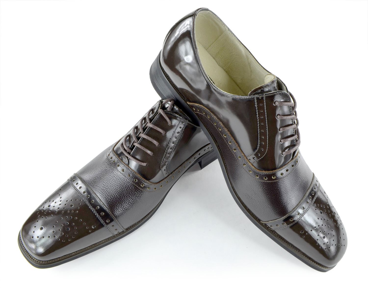 Moda Di Raza- Men's Dress Shoes Leather Shoe Business Formal Casual Parties - Charcoal