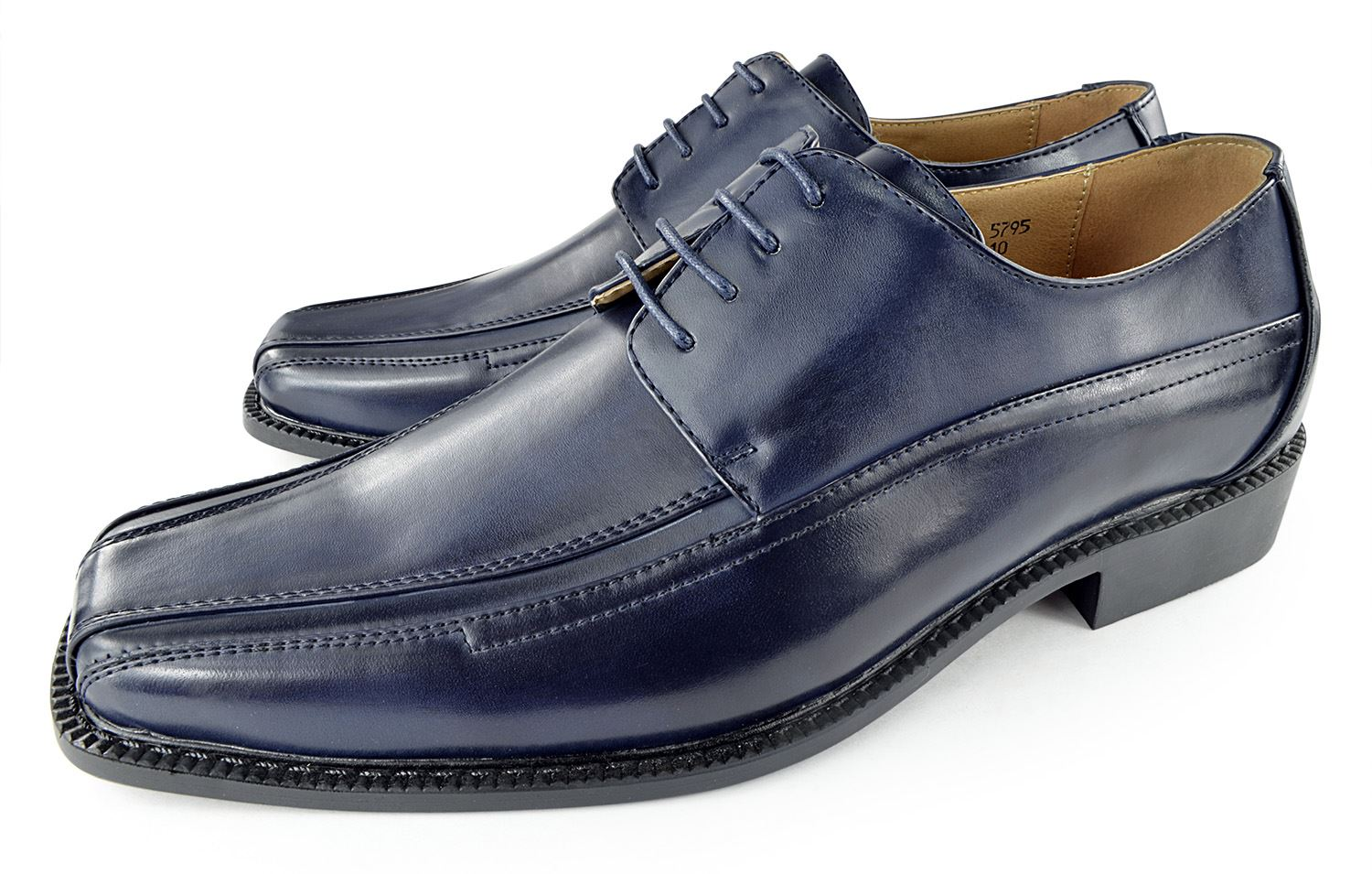 Moda Di Raza- Men's Dress Shoes Leather Shoe Business Formal Casual Parties - Navy