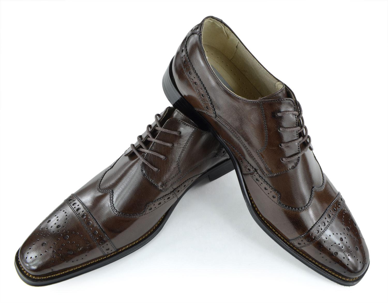 Moda Di Raza- Men's Dress Shoes Leather Shoe Business Formal Casual Parties - Charcoal