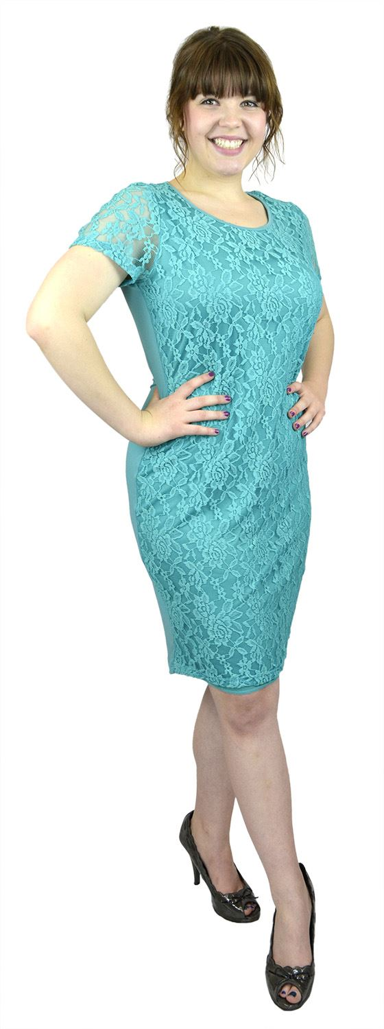 Belle Donne- Women Evening Dress Plus Size Dress Party Dresses - Jade/X-Large