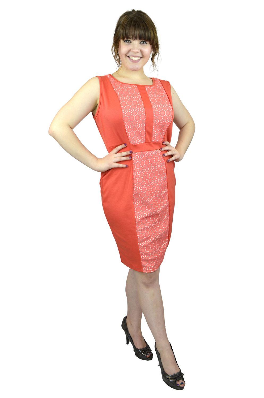 Belle Donne- Women Evening Dress Plus Size Dress Party Dresses - Coral/X-Large