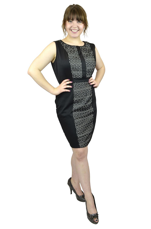 Belle Donne- Women Evening Dress Plus Size Dress Party Dresses - Black/X-Large