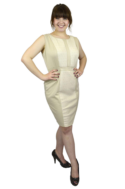 Belle Donne- Women Evening Dress Plus Size Dress Party Dresses - Tan/X-Large