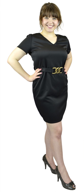 Belle Donne- Women Evening Dress Plus Size Dress Party Dresses - Black/3X-Large