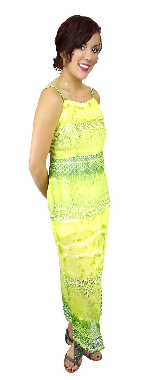 Belle Donne Women's Plus Size Print Maxi Dresses Cute Spring Fashion Sundress -Lime/XXX-Large