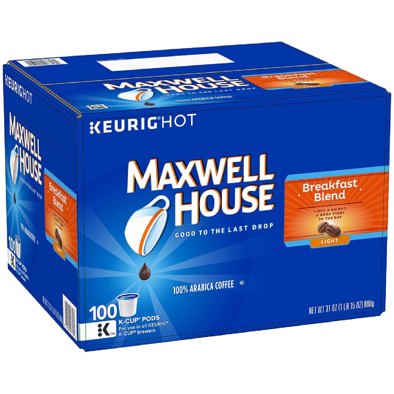 Maxwell House Breakfast Blend Coffee (100 K-Cups)