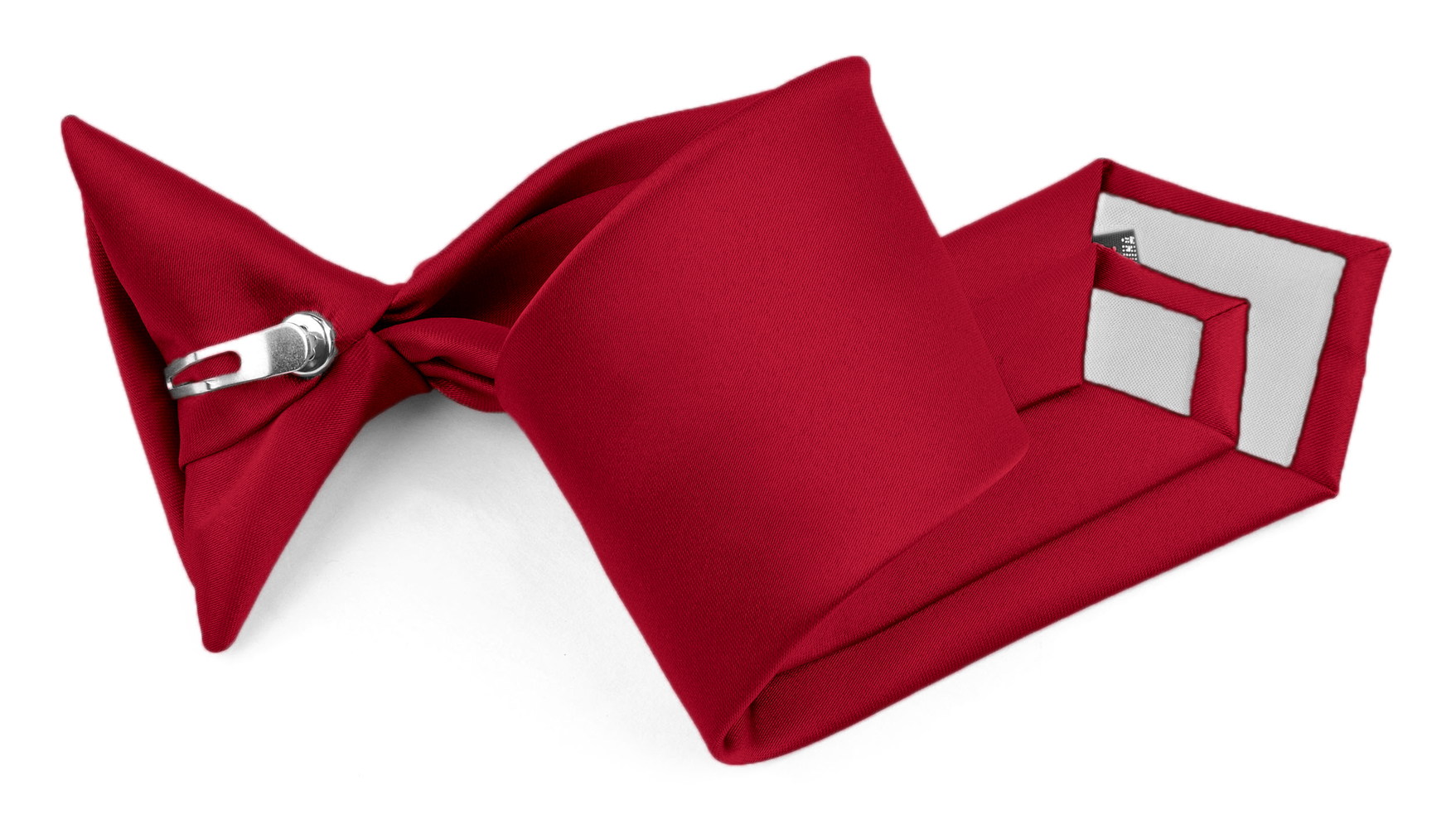 Moda Di Raza - Boy's NeckTie Solid Clip on - Kid's Necktie - Crimson 11""