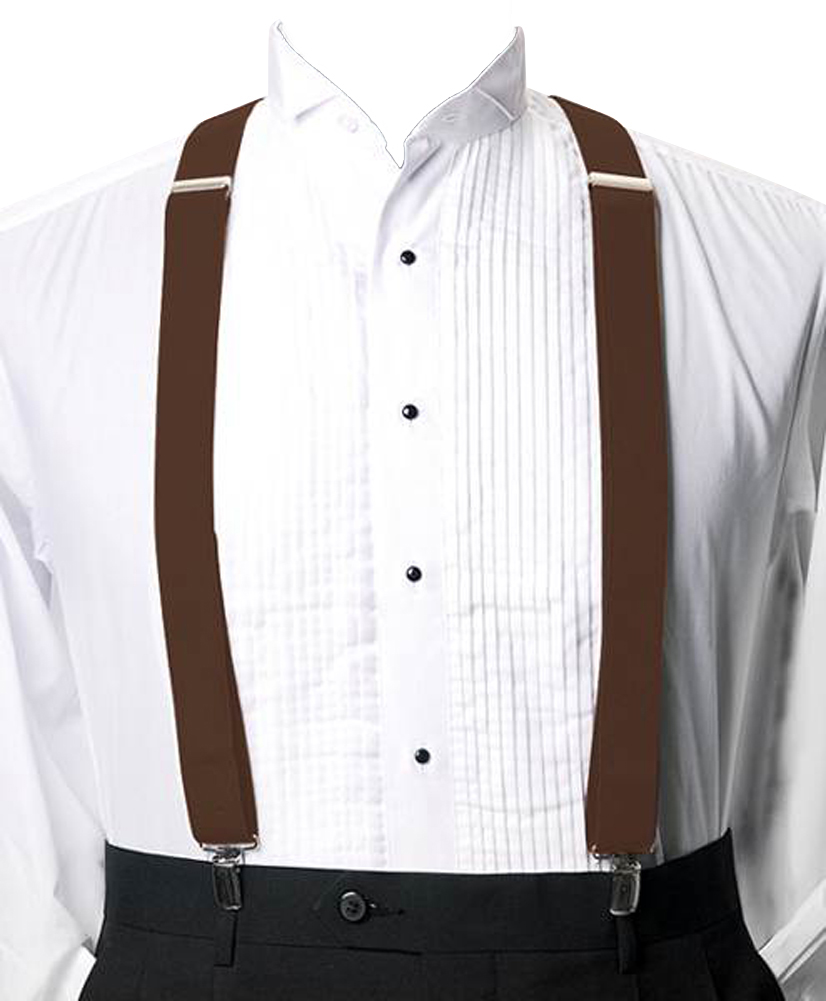 Moda Di Raza Suspender For Men Heavy Duty Y Type Clip - Brown