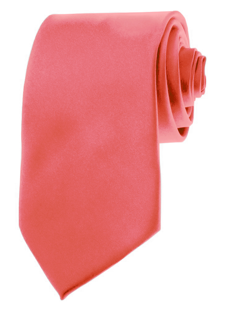 Mens Neckties - Solid Color Ties - 3.5