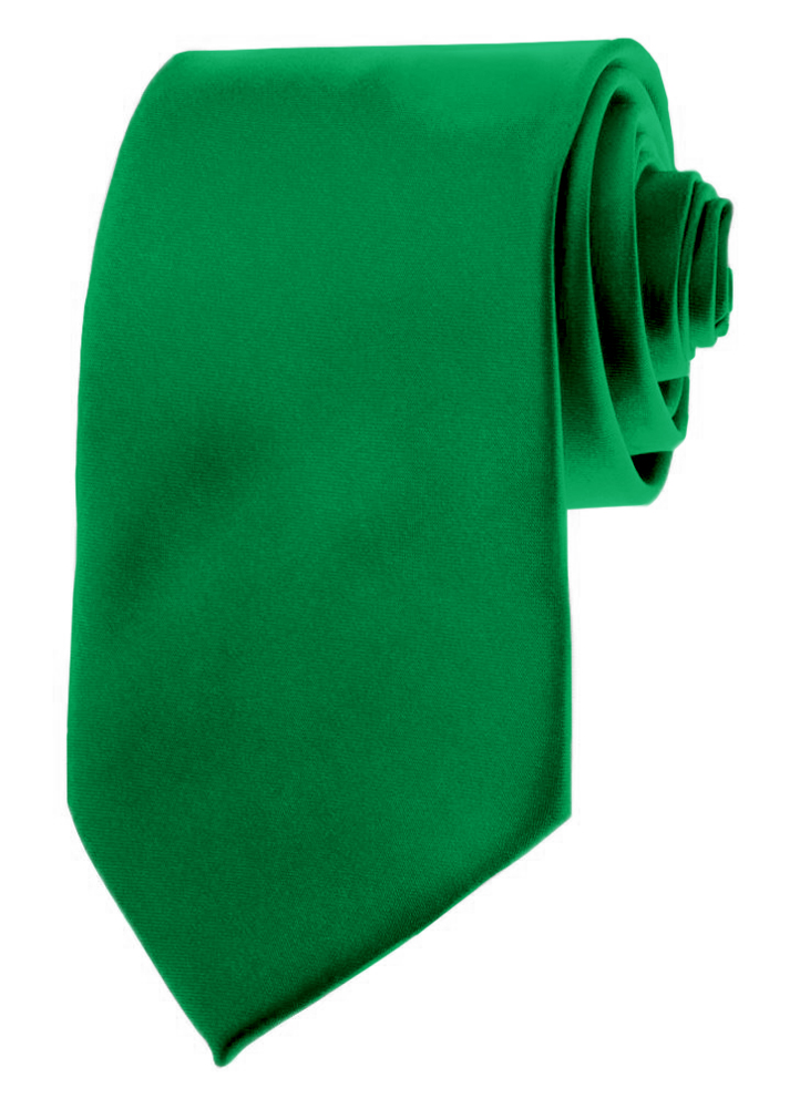 "Moda Di Raza Mens Necktie 3.5"" Tie Satin Finish Polyester Ties Solid Colors"
