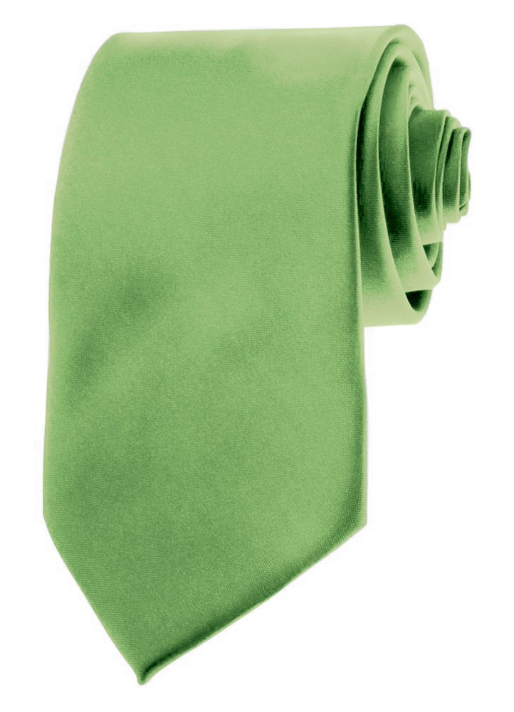 "Mens Neckties - Solid Color Ties - 3.5"" Basic Neck Ties for Men by Moda Di Raza - Sage Green"