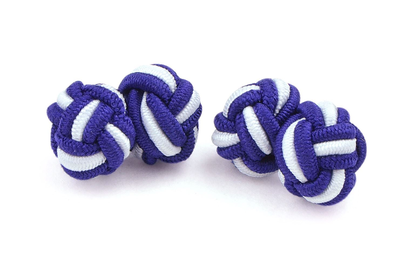 Moda Di Raza- Mens Shirt Cufflinks Silk Knot Designer Cuff links French Cuffs - Eggplant