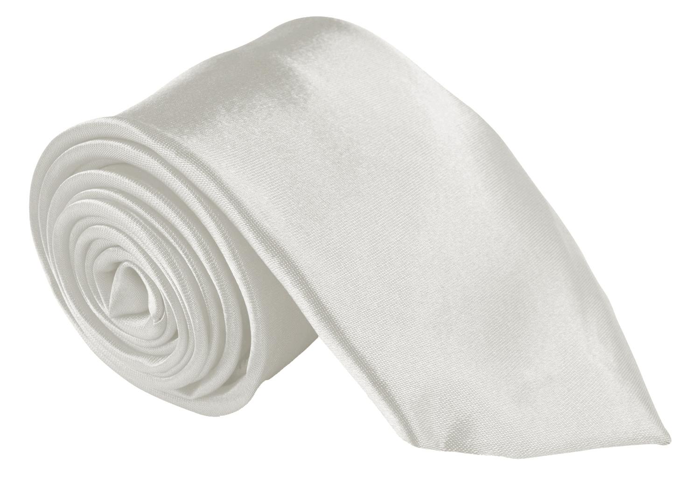 Men Ties Contemprary Width 3 Inch Satin Finish - Pearl Neckties