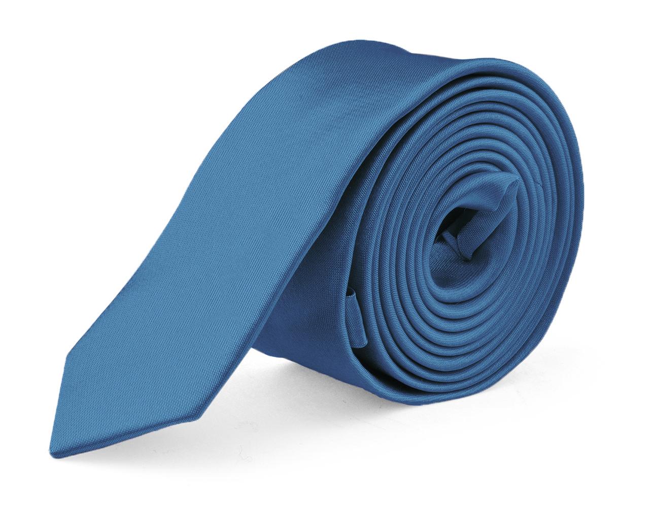 MDR Mens Ties Solid Satin Tie Pure Solid Color Necktie - Peacock 1.5 inch