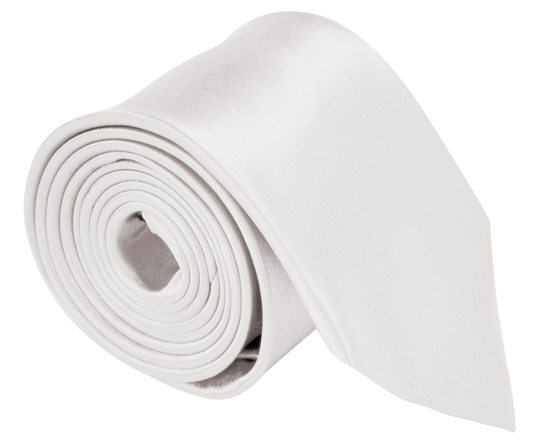 Neckties For Men 3.5 Microfiber Woven Satin Neck Ties For Men Solid Color - Ivory Cream