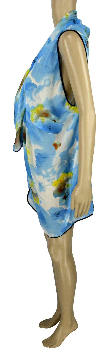 Belle Donne - Women's Beach Cover Up Assorted Colors - Blue/Free Size
