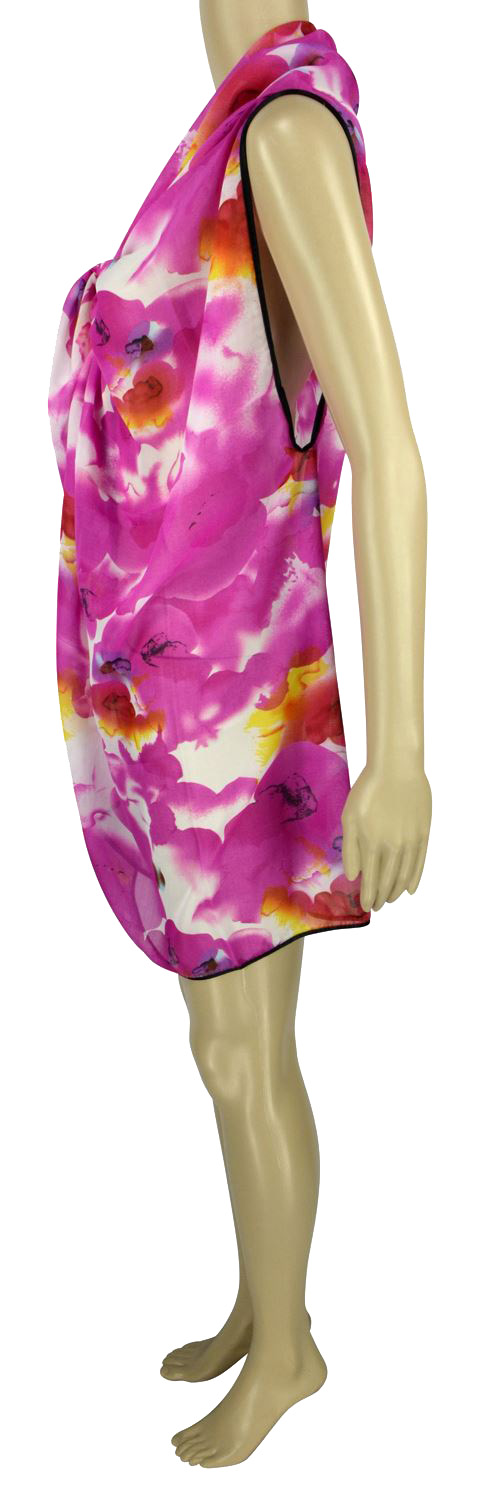 Belle Donne - Women's Beach Cover Up Assorted Colors - Pink/Free Size