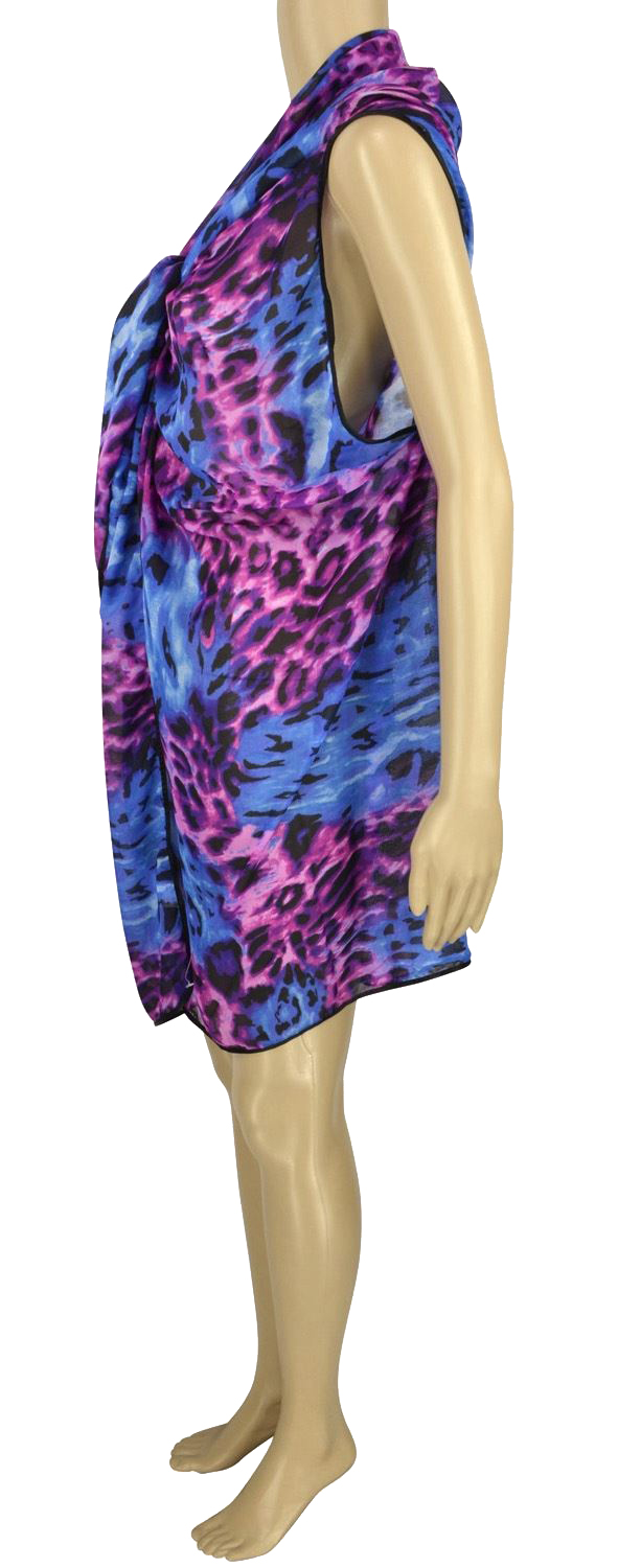 Belle Donne - Women's Beach Cover Up Assorted Colors - Purple/Free Size