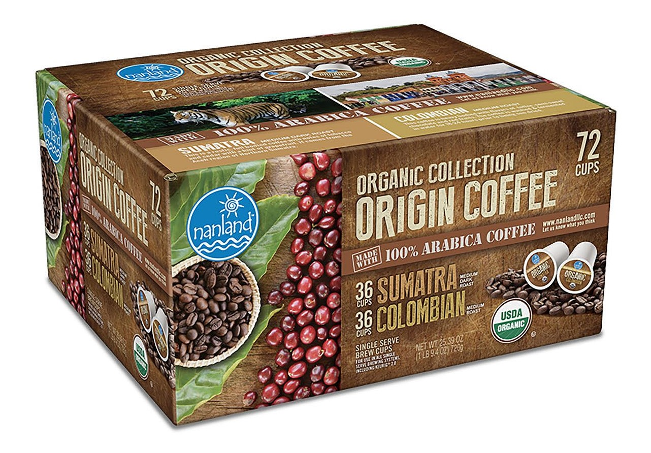 Nanland Organic Collection Origin Coffee Variety Pack (0.36 oz. ea., 72 ct.)