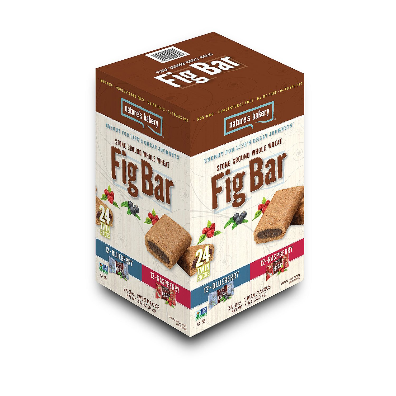 Nature's Bakery Fig Bar, Variety Pack (2 oz., 24 pk.)