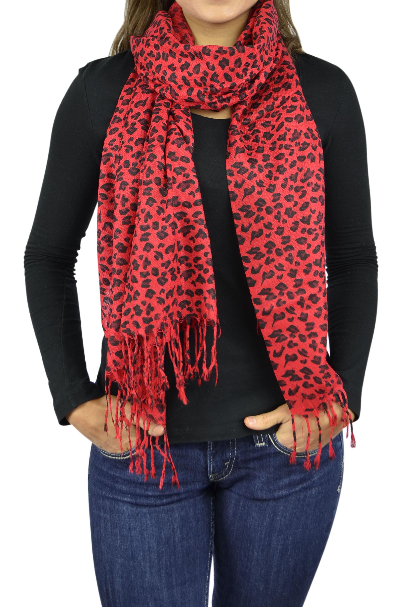 ca41eef604894 Pashmina Scarf Women Scarfs Soft Wrap Shawl Animal Print: Zebra Leopard  Giraffe Scarves By Belle