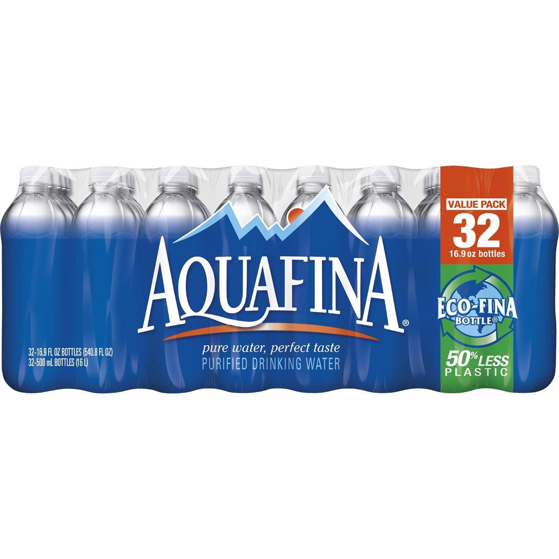 Aquafina Pure Water, 16.9 Ounce (32 Bottles)