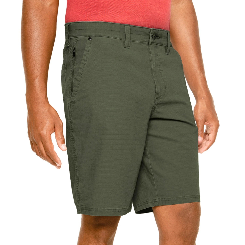 Weatherproof Men's Ripstop Zipper Pocket Utility Short - Military Green (Ivy) 42W