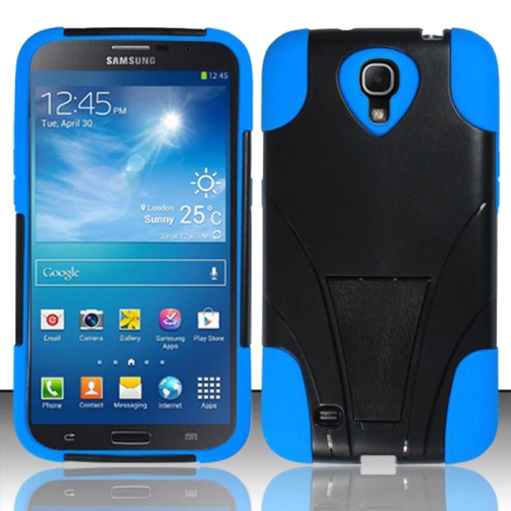 Hybrid Case in Blue for Samsung Galaxy Mega 6.3